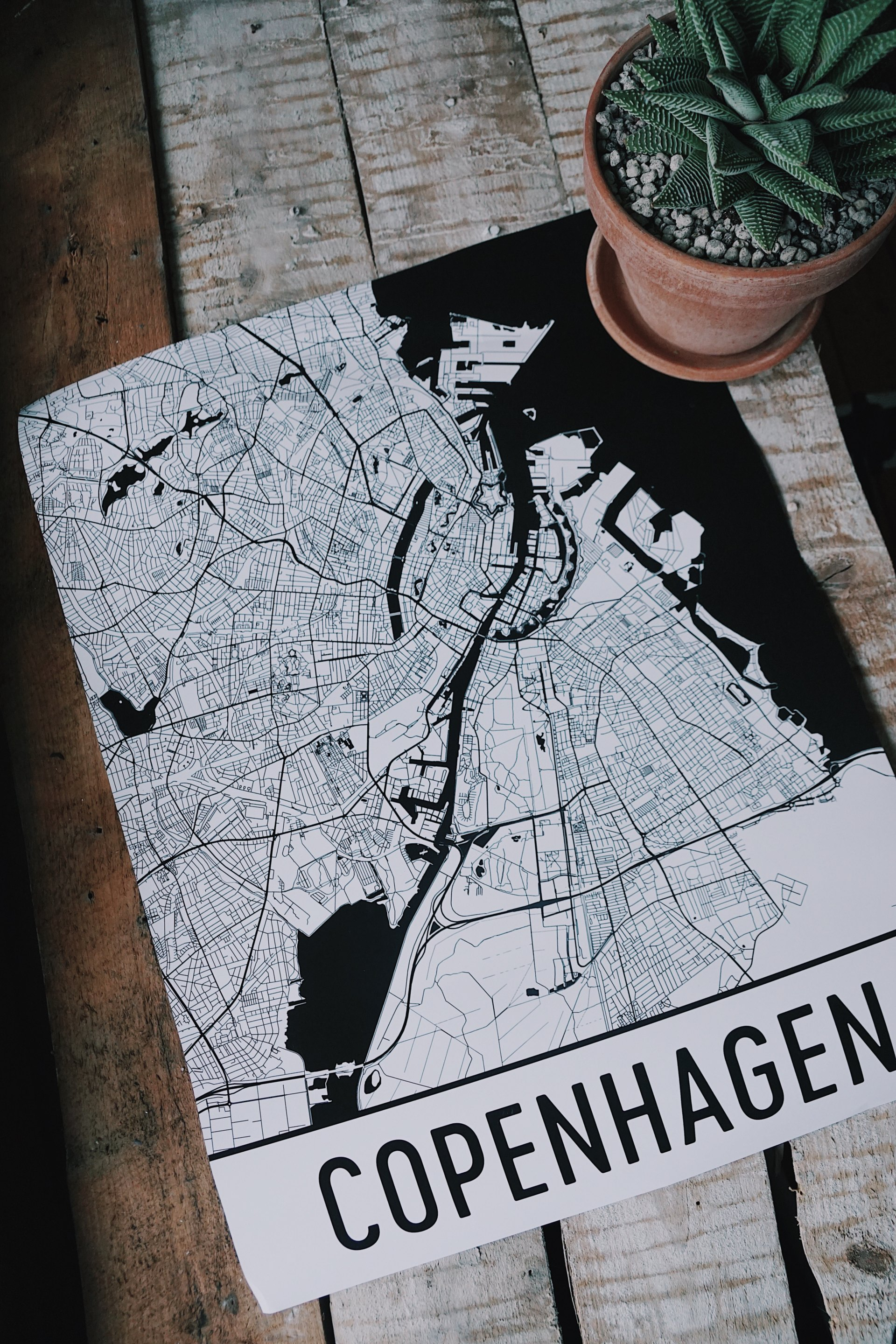 Copenhagen City Print – Modern Map Art